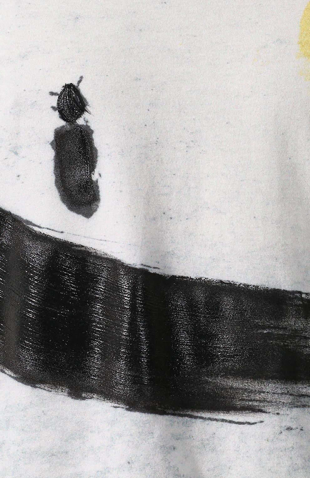 Мужская хлопковая футболка с принтом MONCLER белого цвета, арт. D1-091-80351-50-809AR   Фото 5