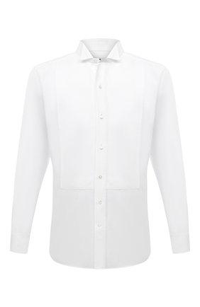 Мужская хлопковая сорочка с воротником бабочка ERMENEGILDO ZEGNA белого цвета, арт. 301980/9MENSM | Фото 1