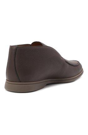 Мужские кожаные ботинки open walk LORO PIANA темно-коричневого цвета, арт. FAI3349 | Фото 4