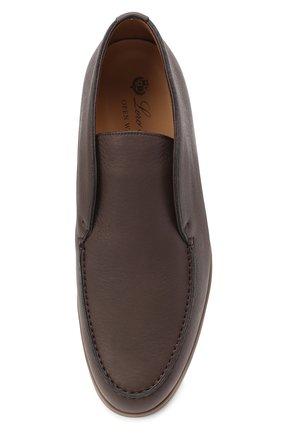 Мужские кожаные ботинки open walk LORO PIANA темно-коричневого цвета, арт. FAI3349 | Фото 5