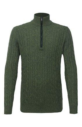 Мужской кашемировый свитер LORO PIANA зеленого цвета, арт. FAD7358 | Фото 1