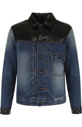 Утепленная джинсовая куртка Moncler Fragment Hiroshi Fujiwara | Фото №1