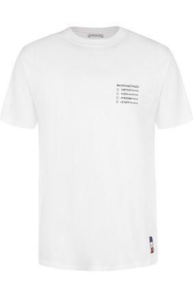 Хлопковая футболка Moncler Fragment Hiroshi Fujiwara | Фото №1