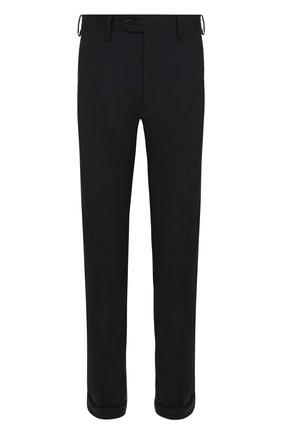 Мужской шерстяные брюки прямого кроя BRIONI темно-синего цвета, арт. RPL23Q/PZA00/M0ENA | Фото 1