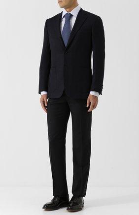 Мужской шерстяные брюки прямого кроя BRIONI темно-синего цвета, арт. RPL23Q/PZA00/M0ENA | Фото 2