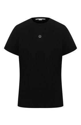 Женская хлопковая футболка STELLA MCCARTNEY черного цвета, арт. 457142/SIW20 | Фото 1