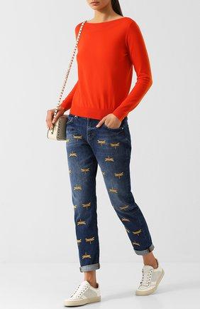 Однотонный шерстяной пуловер Escada Sport оранжевый | Фото №1