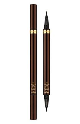 Женские подводка для глаз eye defining pen, оттенок black TOM FORD бесцветного цвета, арт. T1W8-01 | Фото 1