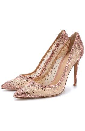 Туфли Gianvito 105 с кристаллами на шпильке | Фото №1