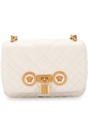 Сумка Tribute mini Versace белая цвета | Фото №1
