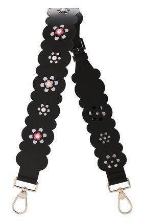 Кожаный ремень для сумки Furla черного цвета | Фото №1