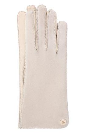 Женские перчатки jacqueline из кожи и замши LORO PIANA светло-серого цвета, арт. FAF8575 | Фото 1 (Статус проверки: Проверено, Проверена категория; Материал: Кожа, Замша)