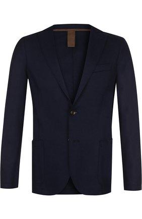 Мужской шерстяной пиджак ELEVENTY UOMO темно-синего цвета, арт. 979JA0001 JAC24018 | Фото 1