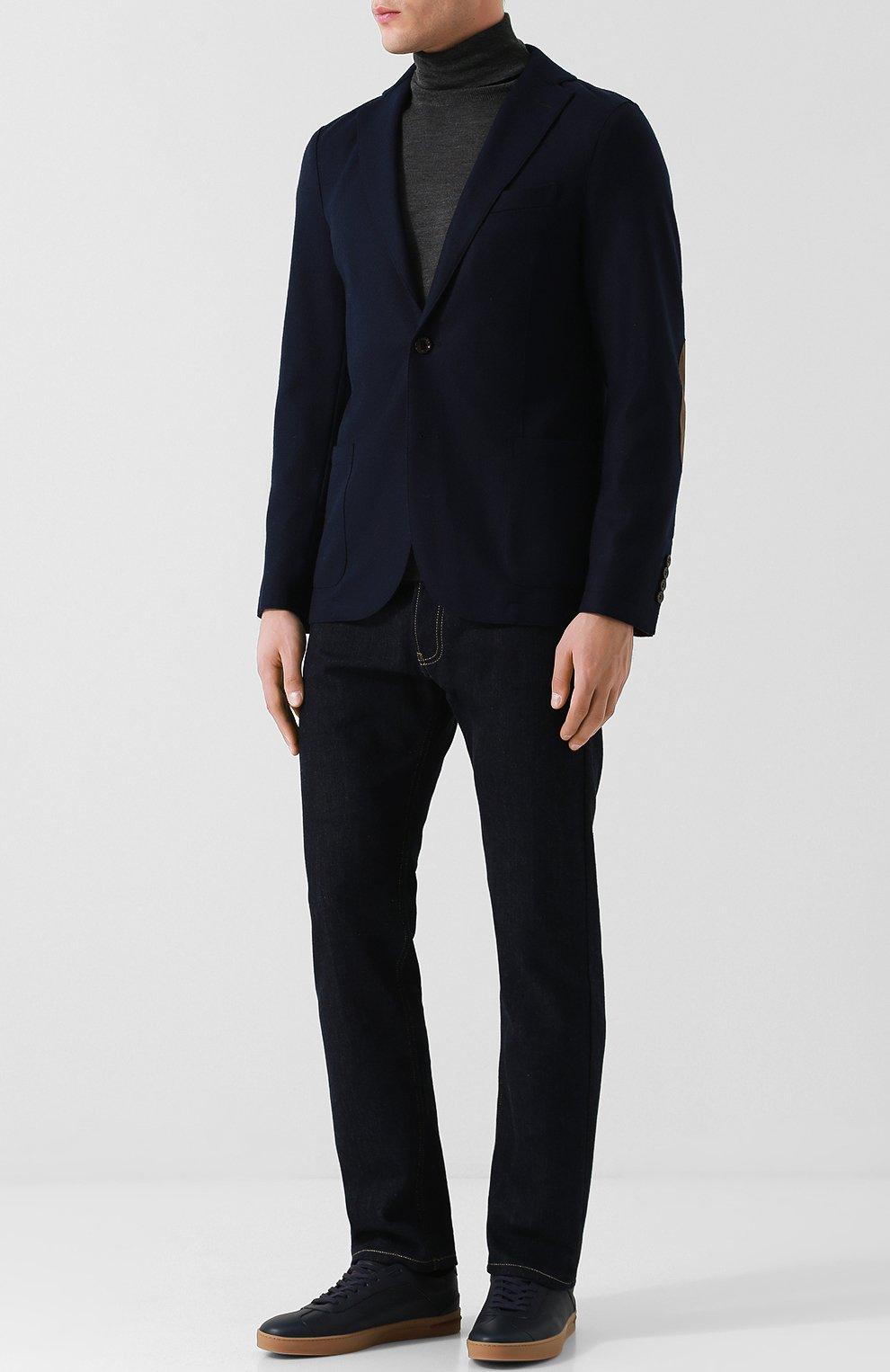 Мужской шерстяной пиджак ELEVENTY UOMO темно-синего цвета, арт. 979JA0001 JAC24018 | Фото 2