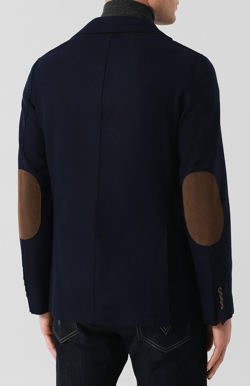 Мужской шерстяной пиджак ELEVENTY UOMO темно-синего цвета, арт. 979JA0001 JAC24018 | Фото 4