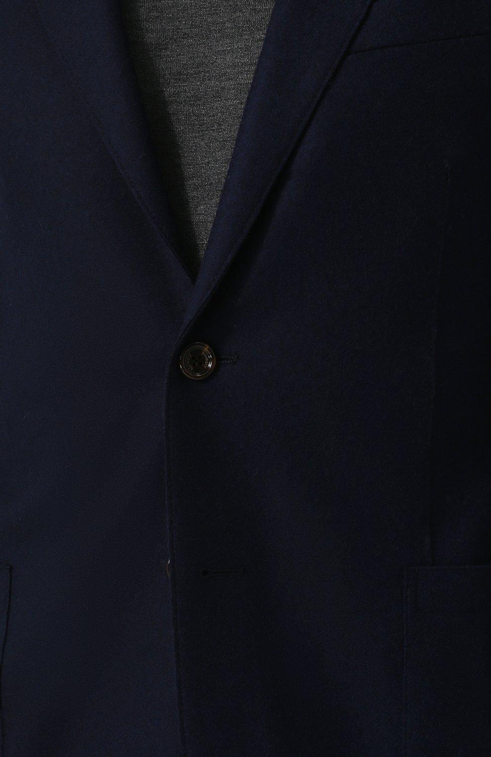 Мужской шерстяной пиджак ELEVENTY UOMO темно-синего цвета, арт. 979JA0001 JAC24018 | Фото 5