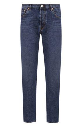 Мужские джинсы прямого кроя VALENTINO темно-синего цвета, арт. QV3DEC0JHYZ | Фото 1