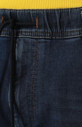 Джинсы прямого кроя с поясом на кулиске Diesel синие | Фото №5