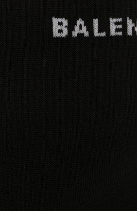 Женские хлопковые носки с логотипом бренда BALENCIAGA черного цвета, арт. 512473/368B8 | Фото 2