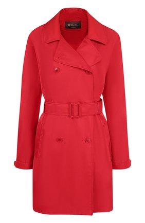 Женское однотонное пальто с поясом LORO PIANA красного цвета, арт. FAI0283 | Фото 1