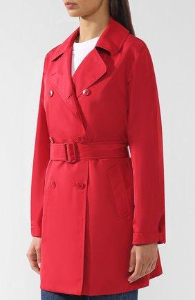 Женское однотонное пальто с поясом LORO PIANA красного цвета, арт. FAI0283 | Фото 3