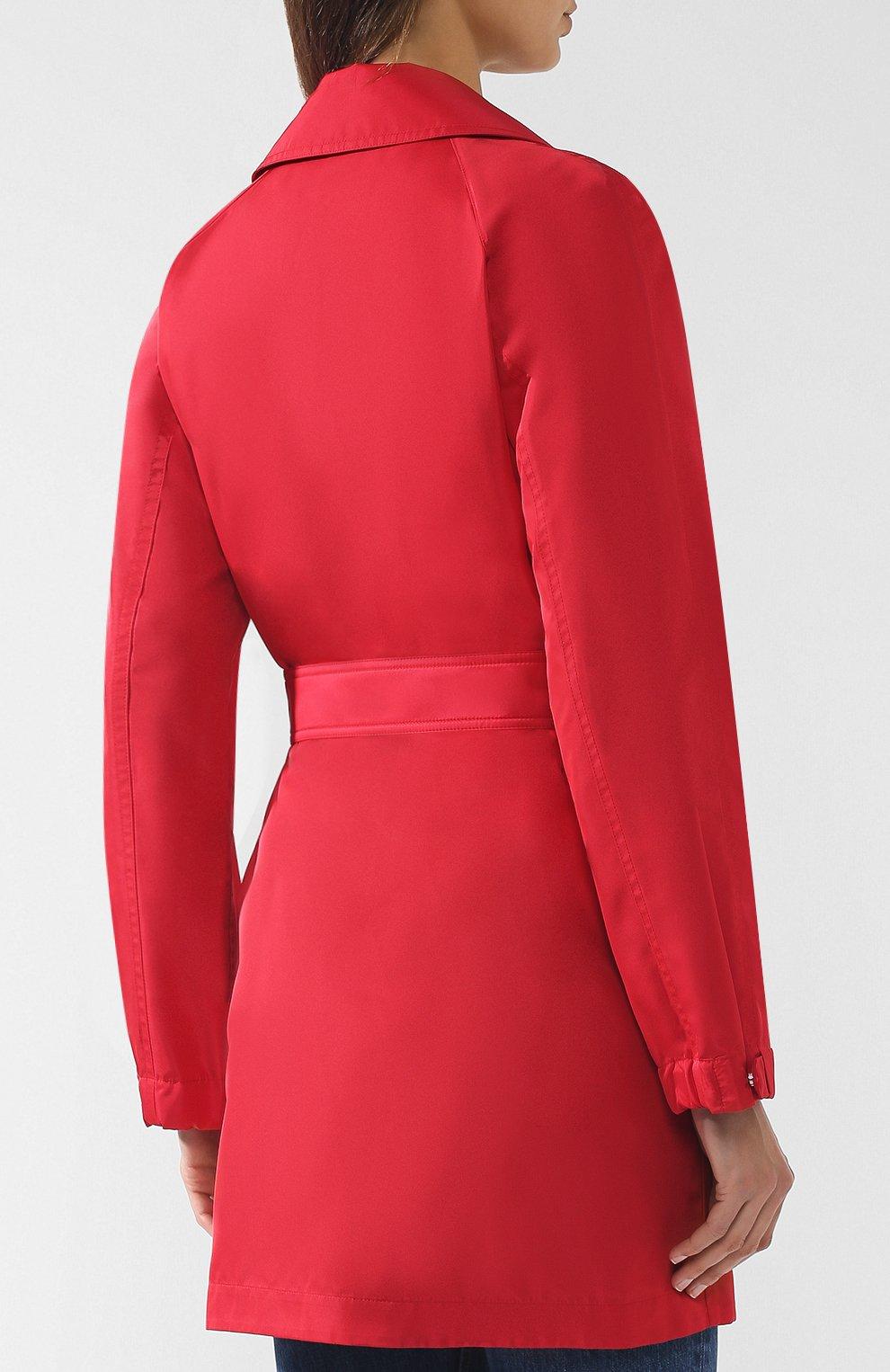 Женское однотонное пальто с поясом LORO PIANA красного цвета, арт. FAI0283 | Фото 4