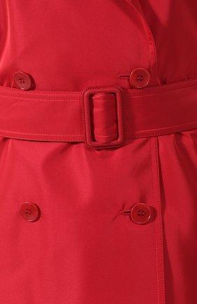 Женское однотонное пальто с поясом LORO PIANA красного цвета, арт. FAI0283 | Фото 5