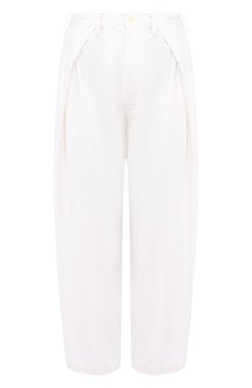 Укороченные хлопковые брюки свободного кроя | Фото №1