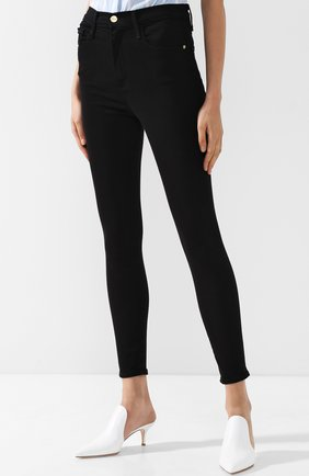 Однотонные джинсы-скинни | Фото №3