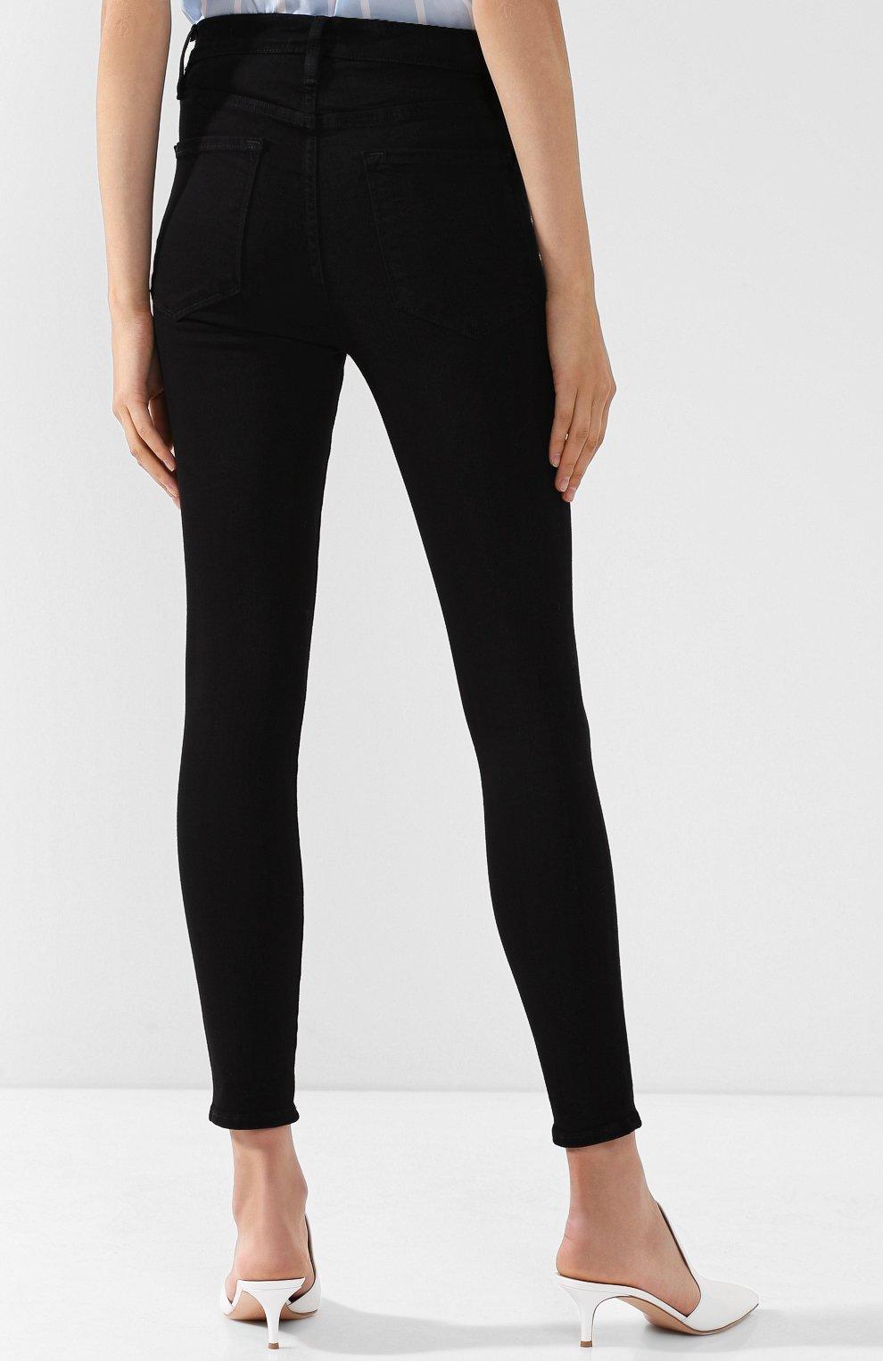 Однотонные джинсы-скинни | Фото №4