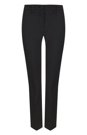 Однотонные укороченные брюки со стрелками Versus Versace фиолетовые   Фото №1