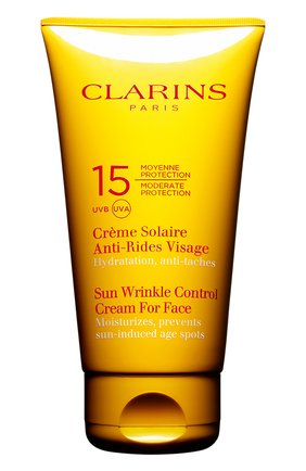 Женский солнцезащитный крем для лица crème solaire anti-rides visage spf 15 CLARINS бесцветного цвета, арт. 80042996 | Фото 1