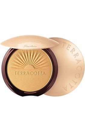 Пудра-хайлайтер Terracotta, оттенок Золотое сияние | Фото №1