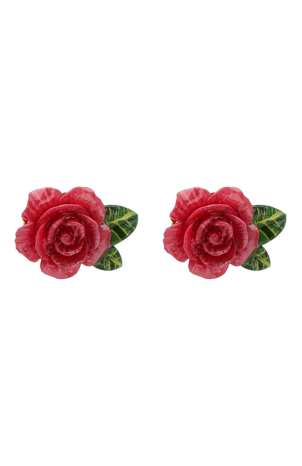 76701688420d Женские розовые серьги-клипсы в виде цветов DOLCE   GABBANA — купить ...