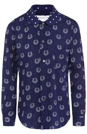 Блуза из вискозы с принтом | Фото №1