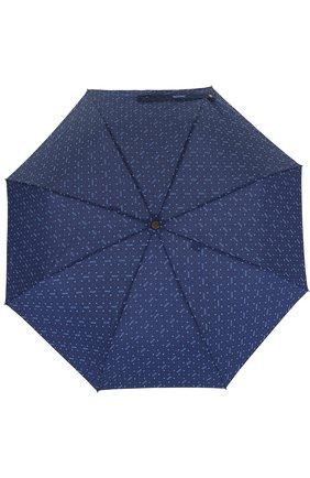 Женский складной зонт с принтом MOSCHINO синего цвета, арт. 8505-0PENCL0SE | Фото 1