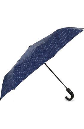 Женский складной зонт с принтом MOSCHINO синего цвета, арт. 8505-0PENCL0SE | Фото 2