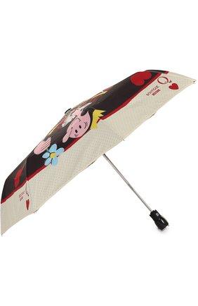 Складной зонт с принтом Moschino черный   Фото №2