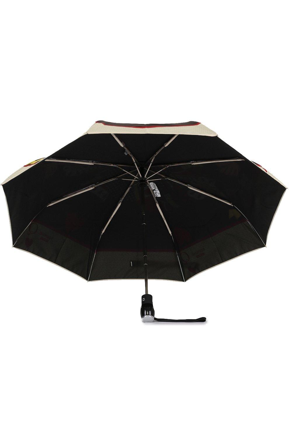 Складной зонт с принтом Moschino черный   Фото №3