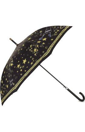 Женский зонт-трость с принтом MOSCHINO черного цвета, арт. 7036-63AUT0 | Фото 2