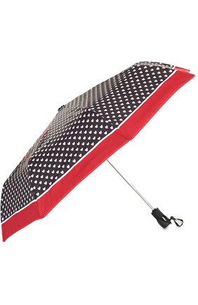Женский складной зонт с принтом MOSCHINO черного цвета, арт. 7051-0PENCL0SE | Фото 2