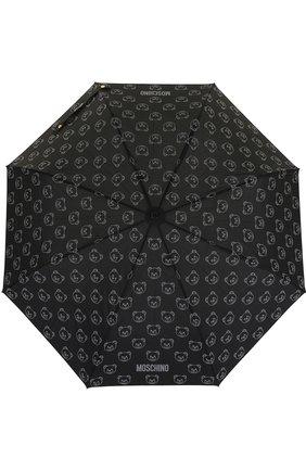 Женский складной зонт с принтом MOSCHINO черного цвета, арт. 8043-0PENCL0SE | Фото 1