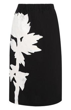 Хлопковая юбка с эластичным поясом и принтом | Фото №1