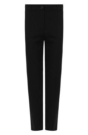 Женские укороченные шерстяные брюки со стрелками DOLCE & GABBANA черного цвета, арт. FTAMUT/FUCCS | Фото 1