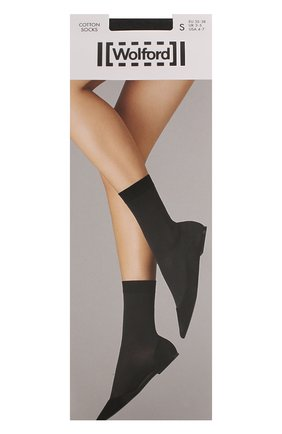 Женские капроновые носки WOLFORD серого цвета, арт. 45019 | Фото 1