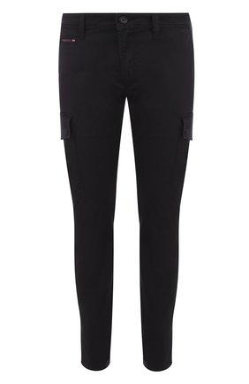 Хлопковые брюки-карго Diesel черные | Фото №1