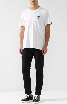 Хлопковые брюки-карго Diesel черные | Фото №2