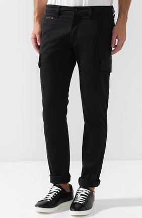 Хлопковые брюки-карго Diesel черные | Фото №3