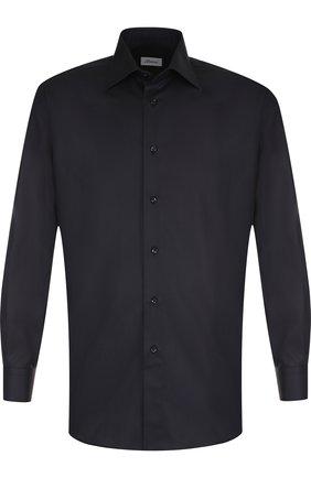 Мужская хлопковая сорочка BRIONI черного цвета, арт. RCLU2Q/PZ023 | Фото 1
