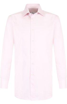 Мужская хлопковая сорочка с воротником кент BRIONI светло-розового цвета, арт. RCL80R/P7003 | Фото 1
